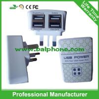 4USB Port Wall Charger for iPad ,4 USB Travel Charger for Samsung,Wall Plug Charger Manufactures