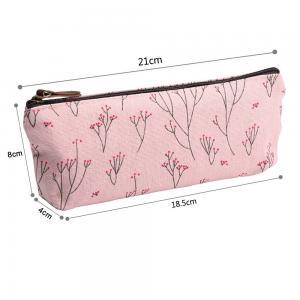 Soft Nylon Zipper Pencil Pouch For Girls Pencil 21*18.5*8 Cm Manufactures