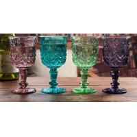 Height 16.5cm Crystal Solid Coloured Wine Glasses / Purple Champagne Glass Cups Manufactures