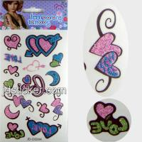 China Water transfer glitter tattoo sticker on sale
