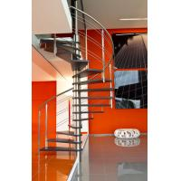 Stainless Steel Rod Railing Wood Loft Staircase Manufactures