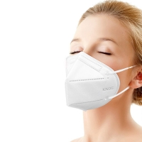 Earloop KN90 Meltblown Nonwoven Fabric FFP2 White Face Mask Manufactures