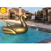 China PVC Inflatable Swan Float Swan Pool Float Inflatable Floating Swan on Stock 190cm Golden Swan Water Floats wholesale