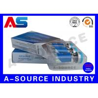 Anti - Fake Steroid Injection Laser 10ml Vial Storage Boxes Panton Blue And White Color Manufactures