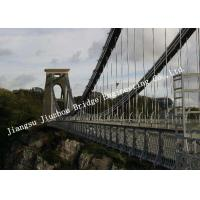 Pre-engineered Wire Suspension Bridge For Transportation Customized Overcrossing Manufactures