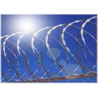 Hot Dip Galvanized Barbed Wire Single Coiled Razor Wire Mesh Fence 900mm Diameter Manufactures