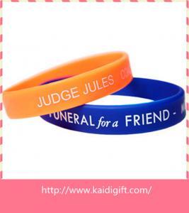 fashion debossed silicone bracelet bangle
