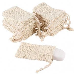 Buy cheap Pretty Arts Flexible Mesh Drawstring Bags , Natural Sisal Soap Saver Bag For from wholesalers