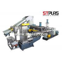 Eco Friendly Plastic Recycling Pellet Machine With Single Screw Extruder Manufactures
