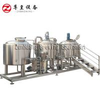 1000 Liter Brewery Fresh Beer Brewing Equipment For Microbrewery Hotel Bar Manufactures