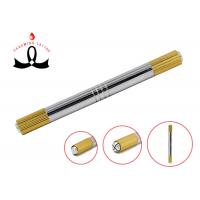 Gold 2 Heads Permanent Makeup Tools Manual 3D Eyebrow Tattoo Pen for sale