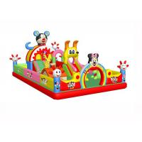 Quality Anti - Static Kids Inflatable Jumping Castle , 0.55mm PVC Childrens Indoor Bouncy Castle for sale