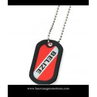 China cheap custom made stainless steel dog tag with epoxy coating on sale
