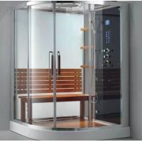 China Shower cubicles with round sliding door,size can be ordered,artical glass,aluminium frames on sale