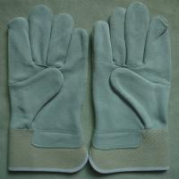 China AB grade cow split leather working gloves for mechanist wholesale