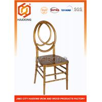 UV Resistant Dark Gold Stackable Resin Chairs Modern Polycarbonate Phoenix With Cushion Manufactures
