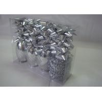 ROHS Christmas gift wrapping ribbons and bows with single - side printed Manufactures
