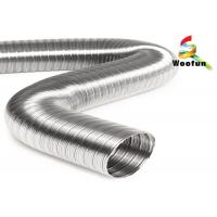 Fire Proof Aluminum Semi Rigid Flexible Ducting Silvery Bendable Customized Manufactures