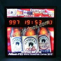 China KENTUCKY Beer LED Countdown Display wholesale