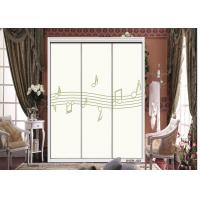 Custom Printed Kitchen Cabinet / Wardrobe Interior Sliding Door With ISO9001 Manufactures