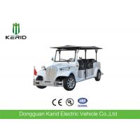 Quality Eight Seater Electric Vintage Cars For Sightseeing With FRP Body 48V Battery for sale