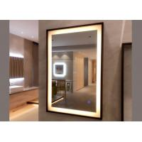 Size Customized Oak Framed Wall Mirrors , Framed Bathroom Vanity Mirrors Manufactures