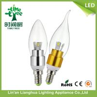 Aluminum Allo 3w 4w Party B22 LED Candle Light Bulbs With Glass Cover Manufactures