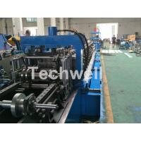 Blue Cable Tray Roll Forming Machine  With Punch Machine & Hydraulic Pre - Cutting Device Manufactures