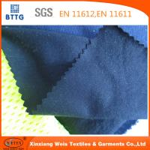 China EN11612 Ysetex 100% cotton 220gsm flame retardant interlock knitted fabric on sale