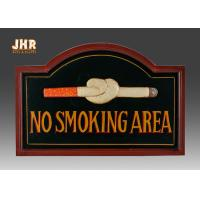 No Smoking Wooden Wall Signs Hand Painting Manufactures