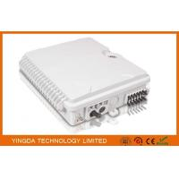 White Plastic 12 Ports Fiber Optic Termination Box ,12 Core SC Pole Mount Splitter Box Waterproof Manufactures