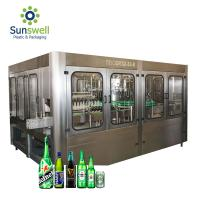 Quality Automatic Beer Filling Machine , Filling And Capping Machine For Glass / Plastic Bottle for sale