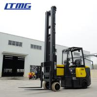 China 2 Ton Electric Counterbalance Forklift Truck Solid Tire With 3 - Stage Mast on sale