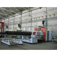 HDPE Plastic Extrusion Line With Sprial Wall Winding , PE HDPE Plastic Pipe Making Machine Manufactures