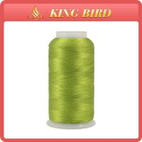 Dyed filament viscose rayon Machine Embroidery Threads / cotton embroidery thread Manufactures