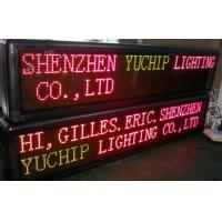 China Two Lines Digital LED Scrolling Message Board / Electronic Message Board on sale