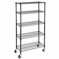 China NSF & BSCI Certificate 350kgs Heavy Duty Garage Storage Chrome Metal Wire Shelving Factory on sale
