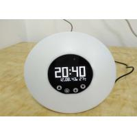 Micro USB DC5V Wake UP Light Alarm Clock With 9 Color LED Light Non - Slip Manufactures
