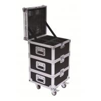 Convenient Stage Performance Wheeled Rack Flight Case For LED Lights / Cables Manufactures