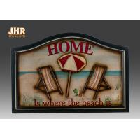 Beach Wall Decor Wooden Wall Plaques Decorative Wall Mounted Plaques White Color Manufactures