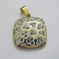 Wholesale Jewelry Supplies Gold 316L Stainless Steel Pendants Manufactures