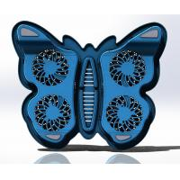 Quality Adjustable 4 fan Laptop cooler Pad with Butterfly Design for 17 inch Notebook for sale