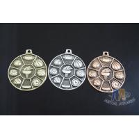 High quality Zinc Alloy / Pewter 3D Die Cast Medals for Sport Meeting, Army, Awards with Antique Copper Plating Manufactures