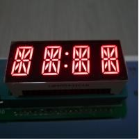 7 Segment 4 Digit Alphanumeric LED Display Bright Red For Instrument Panel Manufactures