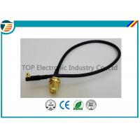 50 Ohms Pigtail RF Coaxial Cable , SMA Male Plug To MMCX Right Angle With RG174 Cable Manufactures