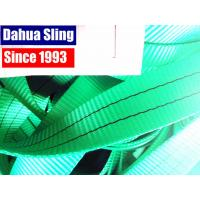 2 Ton Green Polyester Sling Webbing For Heavy Duty Lifting 100ft / roll Manufactures