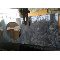 China 22 x 60 inches Ganges Black Prefab Granite Vanity Tops with left sink hole on sale