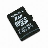 SD-C02G microSD/T-Flash Card by Toshiba, with 2GB Memory Capacity and FAT32 File Format Manufactures