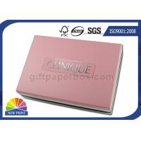 Cosmetic Gift Packaging Colored Blister Tray Rigid Paper Box with Detachable Lid Manufactures