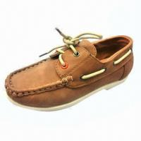 China Injection children's dress shoes (casual shoes), PU upper/lining and sock, PVC sole on sale